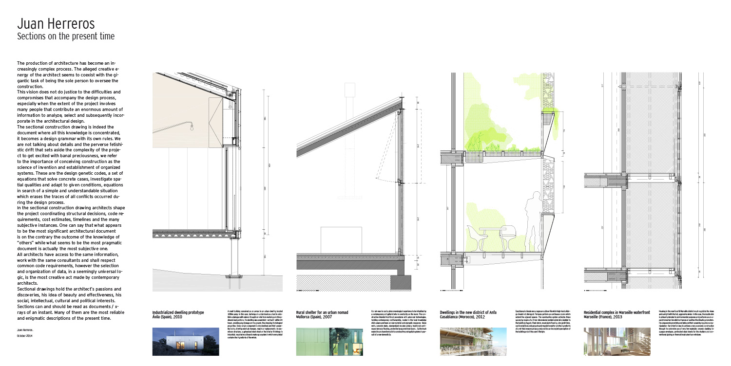 Juan herreros sections on the present time for Time saver details for exterior wall design
